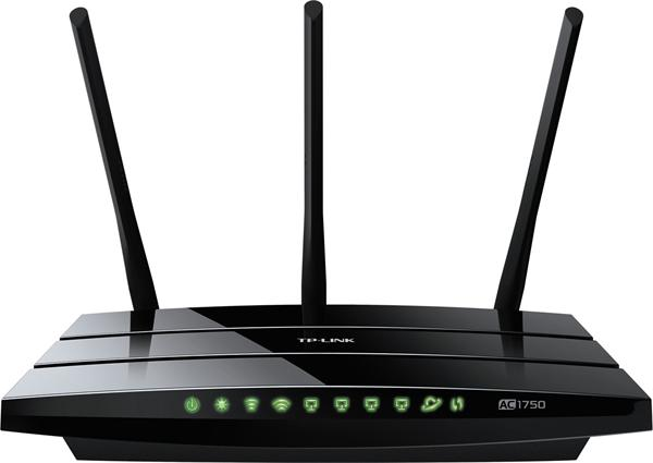 TP-LINK TL-AC1750, bezdr. AC router, 1x WAN, 4x LAN, 802.11ac