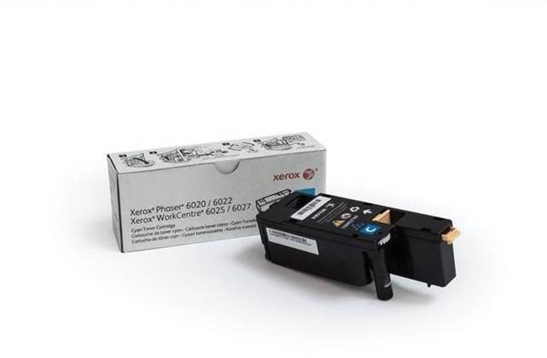 Xerox® CYAN TONER, PHASER 6020/6022, WORKCENTRE 6025/6027 - 1K