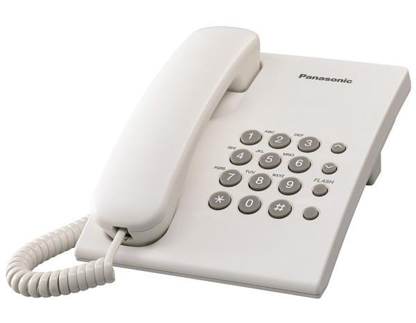Panasonic KX-TS500FXW jednolinkovy telefon - biely