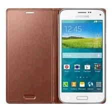 Samsung flipové púzdro pre Galaxy S5 mini, Zlaté