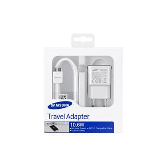 Samsung cestovná nabíjačka USB 3.0, biela