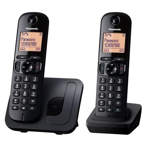 Panasonic KX-TGC212FXB telefon bezsnurovy DECT / cierny 2x