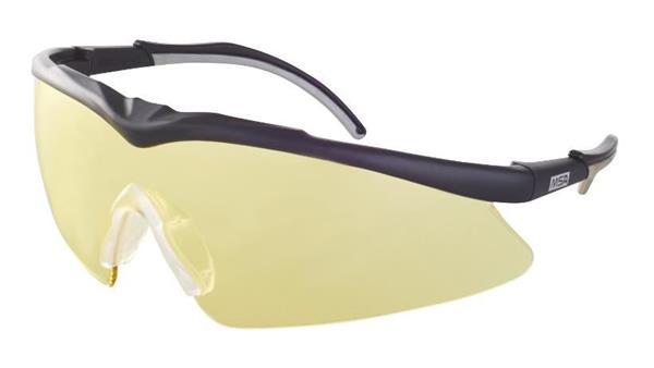 MSA TecTor okuliare, žlté sklá, OptiRock - povrchová úprava, UV400