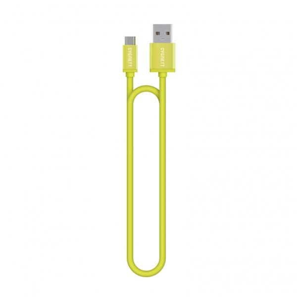 Cygnett nabíjací a synchronizačný kábel microUSB/USB, 1.2m, zelený