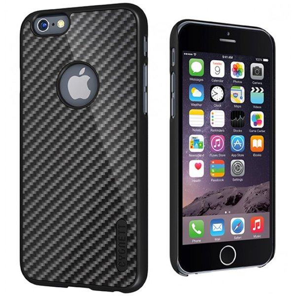 Cygnett, obal UrbanShield Carbon Fieber pre iPhone 6/6S Plus, z uhlíkových vlákien, čierny