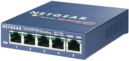 NETGEAR FS105 5x10/100Mbps ProSafe switch, exter. power supply
