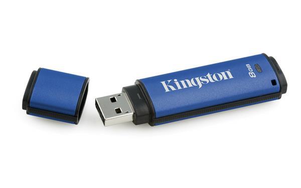 8 GB . USB 3.0 klúč . Kingston Secure DTVP30 256bit AES EncryptedFIPS 197 ( r165 MB/s, w22 MB/s )