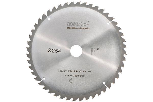 Metabo Pílový kotúč pre ručné okružné píly HW/CT 254x30, 48 WZ 5° neg., classic