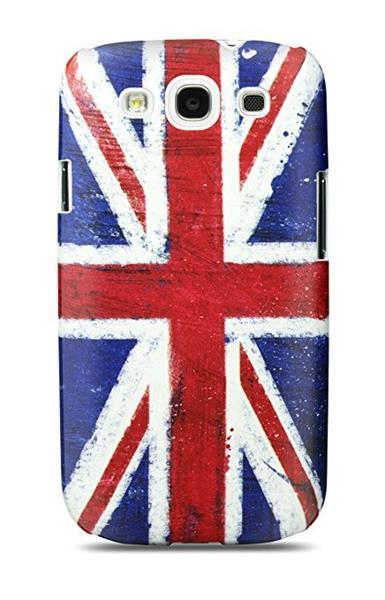 Cygnett, obal Union Jack pre Samsung Galaxy S III, štíhly, pevný, lesklý, čierny