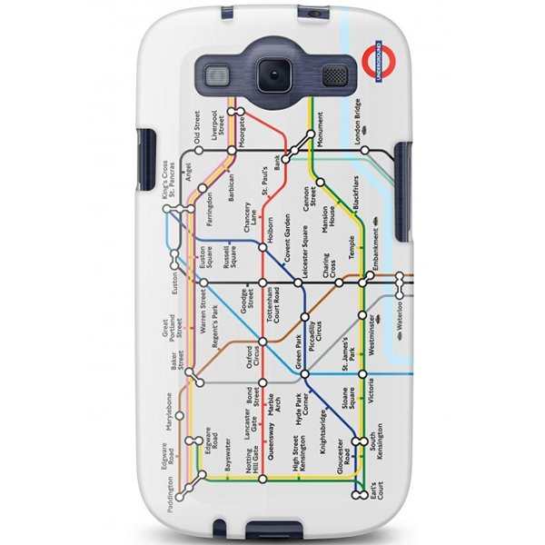 Cygnett, London Transport Series PC hard case Tube pre Samsung Galaxy S III, trasy metra