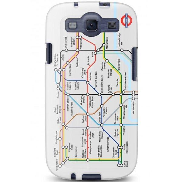 Cygnett, London Transport Series PC hard case Tube pre Samsung Galaxy S III, trasy metra