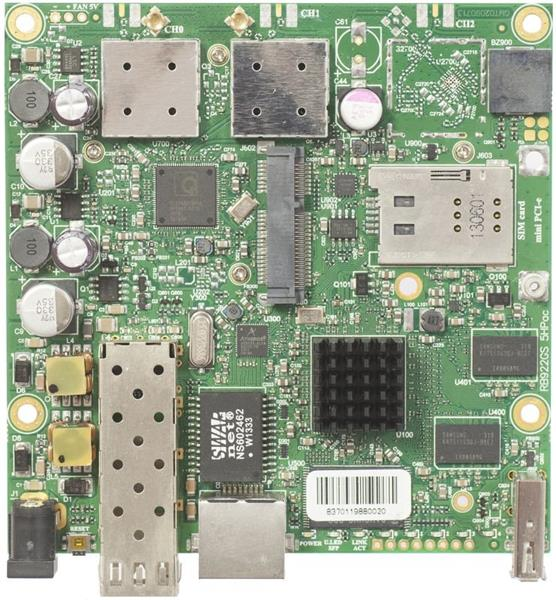 MIKROTIK RouterBOARD 922UAGS-5HPacD + L4 (720MHz, 128MB RAM, 1x LAN,1x5GHz 802.11ac card, 2xMMCX, 3G)