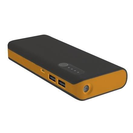 Platinet POWER BANK, 2xUSB port 2.1/ 1A, čierno-oranžový, 8000 mAh. Externá batéria s nabíjačkou