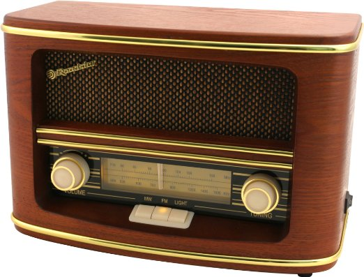 ROADSTAR STYLE WOODEN MONO HOME RADIO / AC-DC OPERATING / AM-FM ANALOGUE RADIO