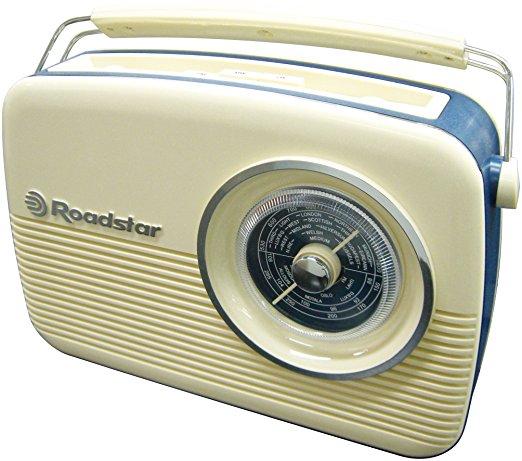 ROADSTAR VINTAGE STYLE LW-MW-FM / AC-DC / 1W / 3.5mm HP JACK / VDE AC CORD / AC/DC