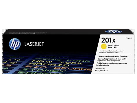 CF402X Žltá tonerová kazeta HP201X LaserJet