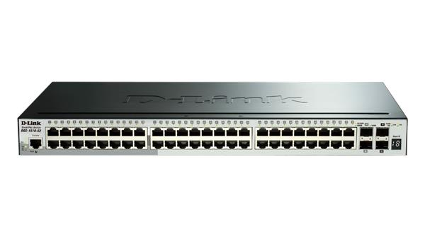 D-Link DGS-1510-52X 48-port 1Gb Stackable SmartPro switch, 4x 10G SFP+