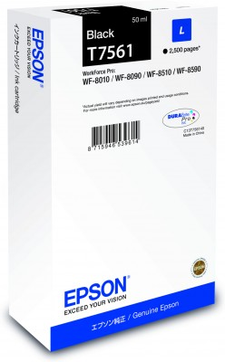 Epson atrament WF8000 series black L - 50ml