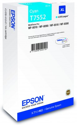 Epson atrament WF8000 series cyan XL - 39ml