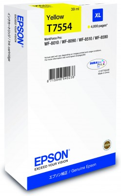 Epson atrament WF8000 series yellow XL - 39ml