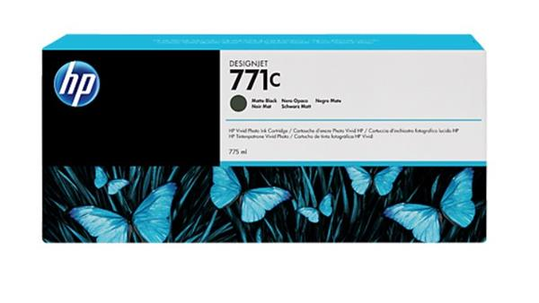 B6Y07A Matná čierna atramentová kazeta HP 771C Designjet, 775 ml
