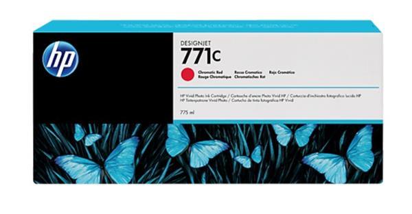 B6Y08A Chromatická červená atramentová kazeta HP 771C Designjet, 775 ml