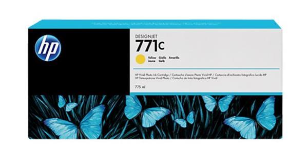 B6Y10A Žltá atramentová kazeta HP 771C Designjet, 775 ml
