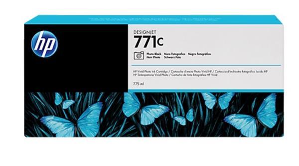B6Y13A Fotografická čierna atramentová kazeta HP 771C Designjet, 775 ml