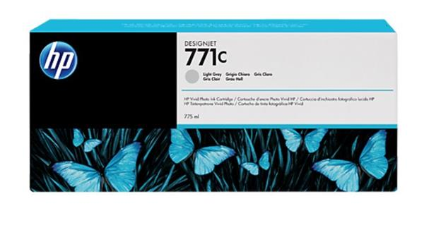 B6Y14A Svetlosivá atramentová kazeta HP 771C Designjet, 775 ml