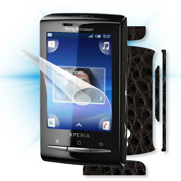 ScreenShield Sony Ericsson Xperia Mini - Films on display and carbon skin (leather)