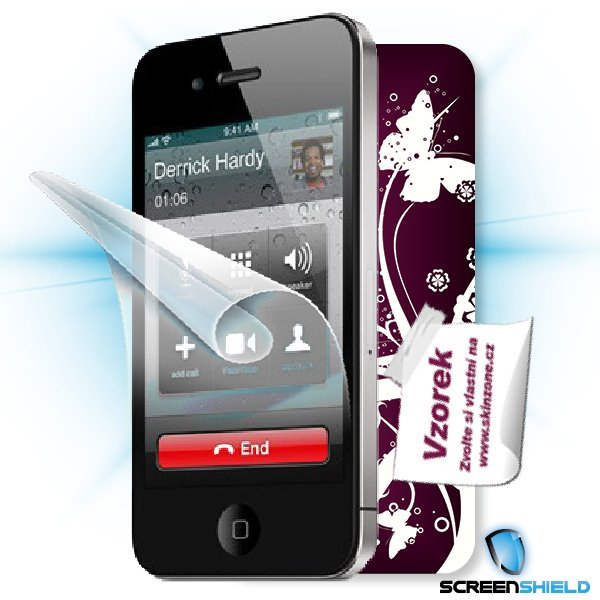 ScreenShield iPhone 4S - Film for display protection and voucher for decorative skin (including shipping fee to end cust