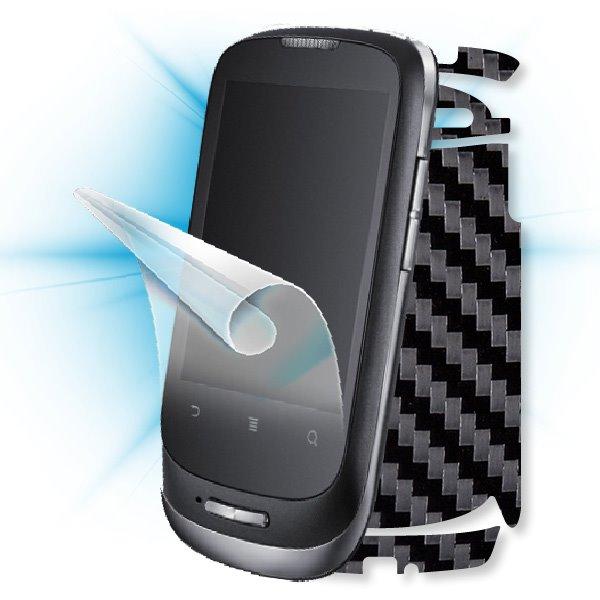 ScreenShield Huawei Ideos X1 (U8180) - Films on display and carbon skin (black)