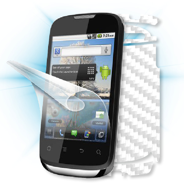 ScreenShield Huawei Sonic - Films on display and carbon skin (white)