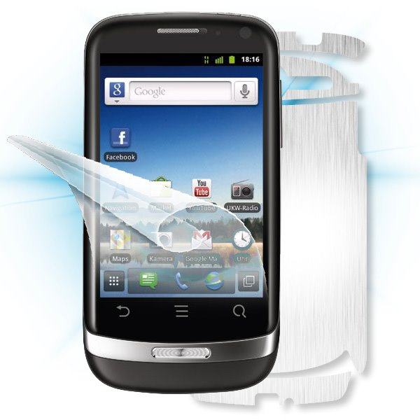 ScreenShield Huawei Ideos X3 - Films on display and carbon skin (silver)