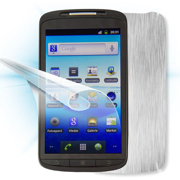ScreenShield ZTE Skate - Films on display and carbon skin (silver)