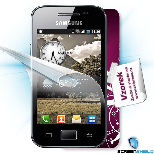 ScreenShield Samsung Galaxy Ace (S5830) - Film for display protection and voucher for decorative skin (including shippin
