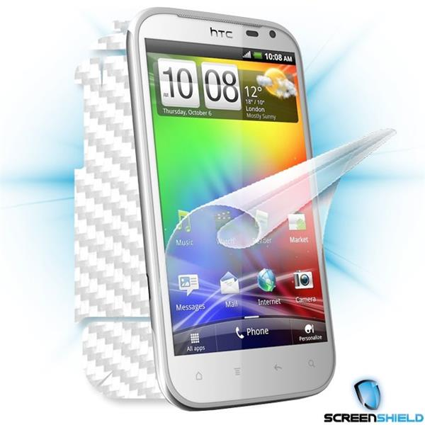 ScreenShield HTC Sensation XL - Films on display and carbon skin (white)