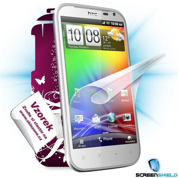 ScreenShield HTC Sensation XL - Film for display protection and voucher for decorative skin (including shipping fee to e