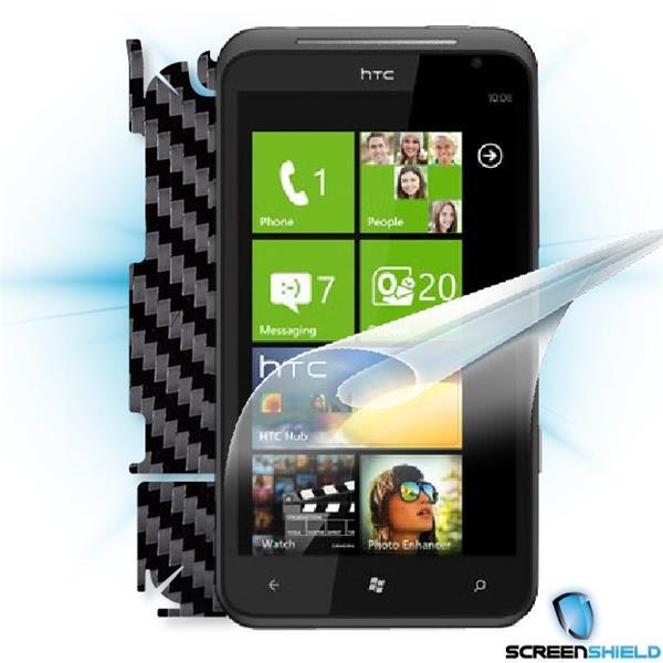ScreenShield HTC Titan - Films on display and carbon skin (black)