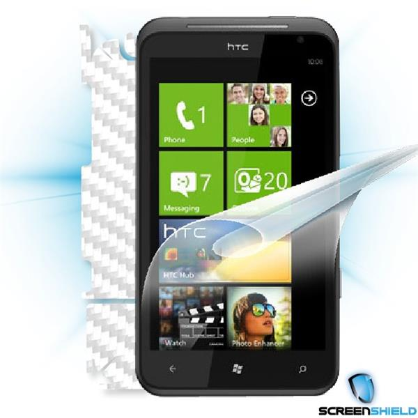 ScreenShield HTC Titan - Films on display and carbon skin (white)