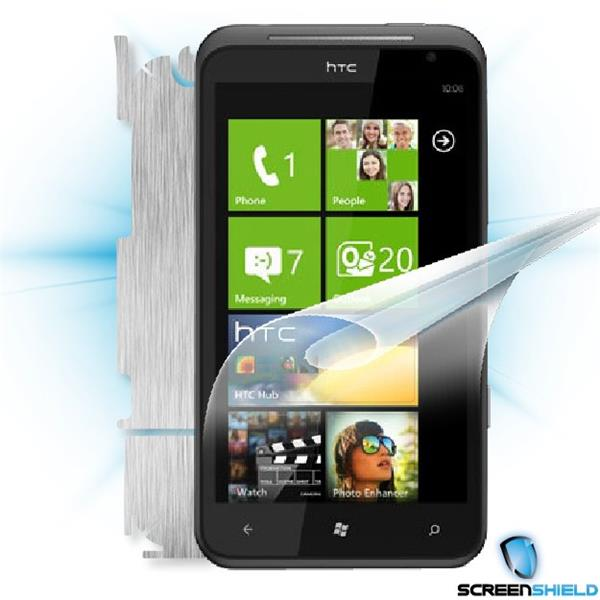 ScreenShield HTC Titan - Films on display and carbon skin (silver)