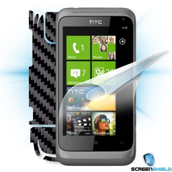 ScreenShield HTC Radar - Films on display and carbon skin (black)