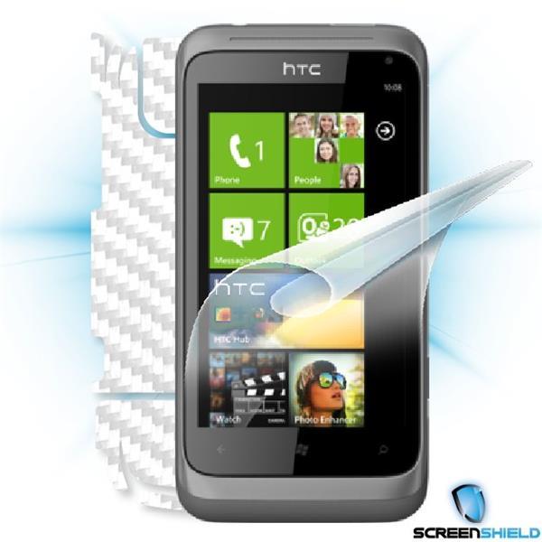 ScreenShield HTC Radar - Films on display and carbon skin (white)
