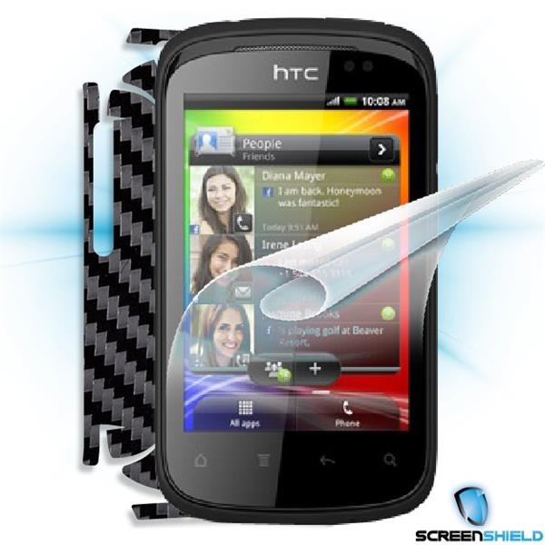ScreenShield HTC Explorer - Films on display and carbon skin (black)