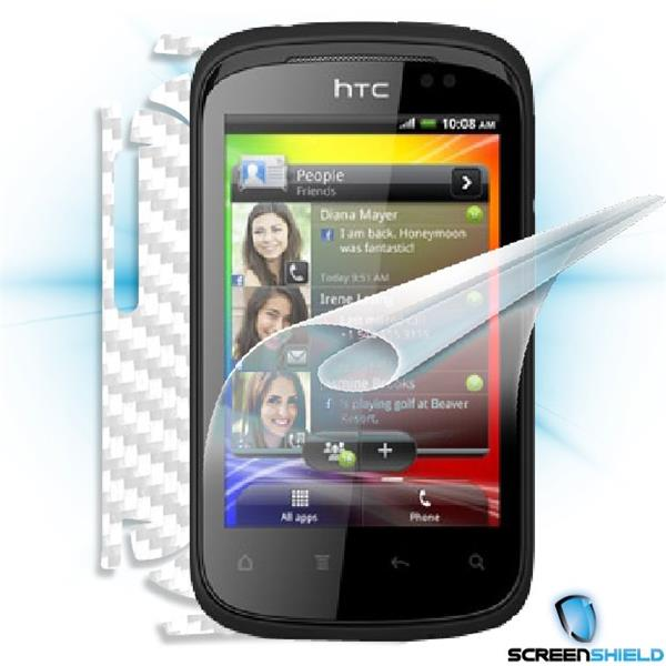 ScreenShield HTC Explorer - Films on display and carbon skin (white)