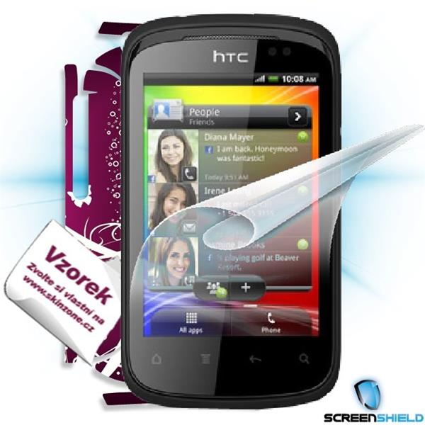 ScreenShield HTC Explorer - Film for display protection and voucher for decorative skin (including shipping fee to end c