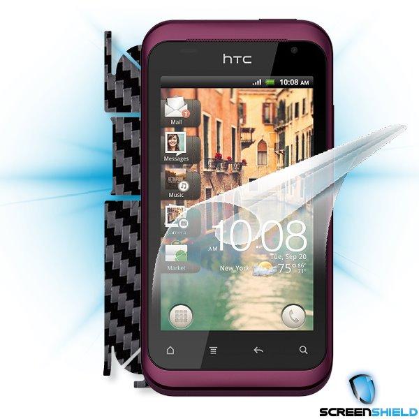 ScreenShield HTC Rhyme - Films on display and carbon skin (black)