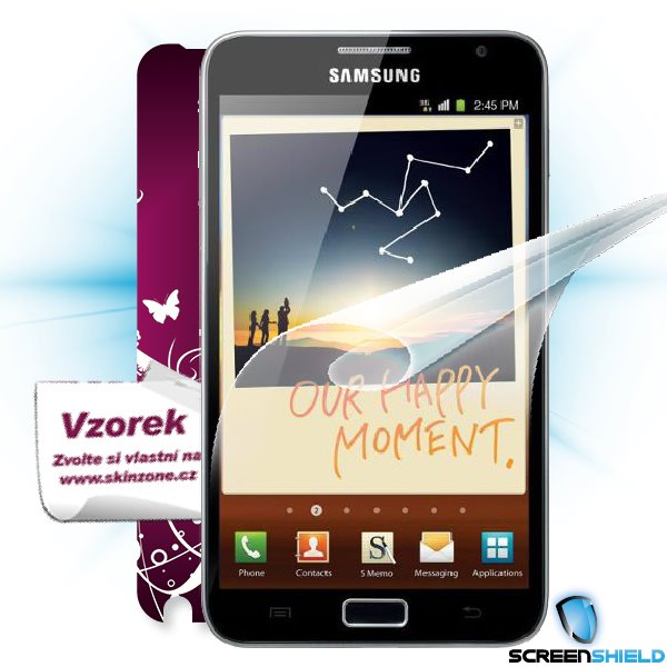 ScreenShield Galaxy Note - Film for display protection and voucher for decorative skin (including shipping fee to end cu