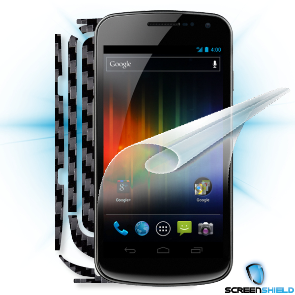 ScreenShield Galaxy Nexus - Films on display and carbon skin (black)
