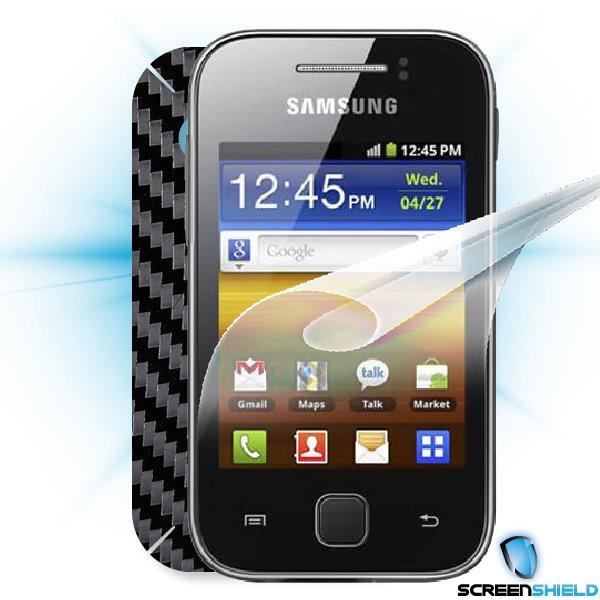 ScreenShield Galaxy Y S5360 - Films on display and carbon skin (black)